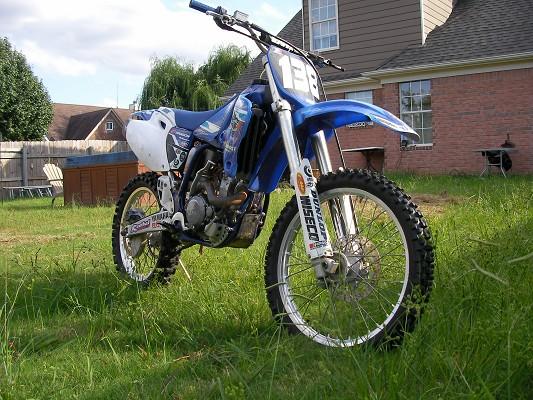 2003 Yamaha yz 250f used Blue