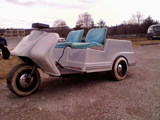harley davidson 3 wheel golf cart