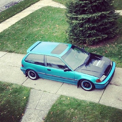 1991 honda civic si green 1991 honda civic si car for sale in westerville oh 4349058555. Black Bedroom Furniture Sets. Home Design Ideas