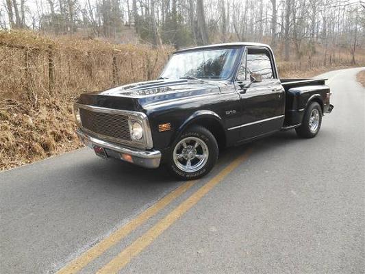Black 1971 Chevrolet C10 Truck In