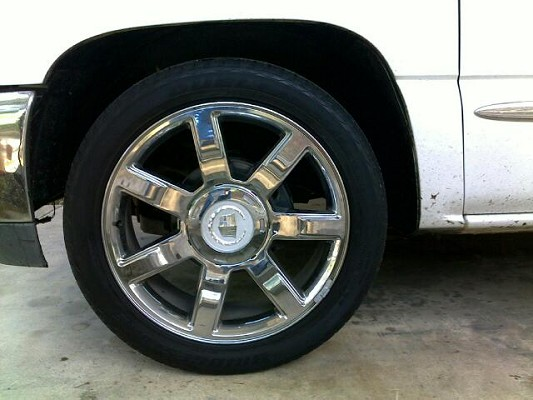 SALE OR TRADE 22 inch chrome escalade wheels $1,200 Possible trade