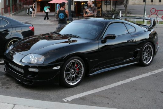 1993 5 toyota supra mkiv black single turbo auto aem v2. Black Bedroom Furniture Sets. Home Design Ideas