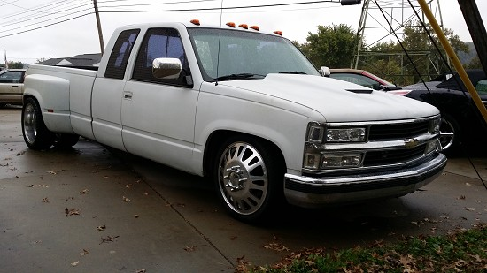 1990 chevy dually lowered
