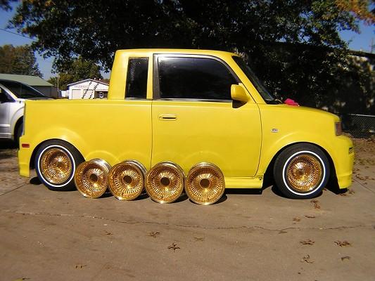 Scion Xb Accessories >> All Gold 13x7 100 spoke Lowrider wheels $600 Firm - 100656867 | Custom 13 or Smaller Wheel ...