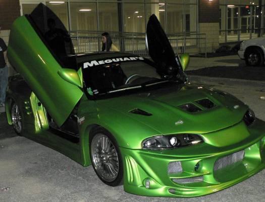 Antifreeze Green Car Paint