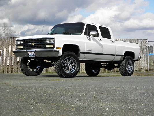 Chevy 3 3 >> 1989 Chevrolet K3500 3 3 Crew Cab 18 950 100384248 Custom