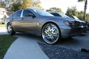 2002 Bmw 745li On 24s Wwwpicsbudcom