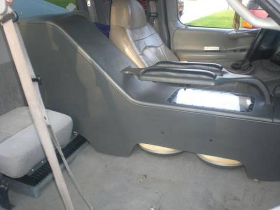 Subwoofer console box sub box center console install for 03 silverado door speaker size