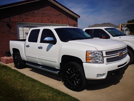 2013 Chevrolet Silverado Ltz 4wd On 22s 38 000 100623152 Custom