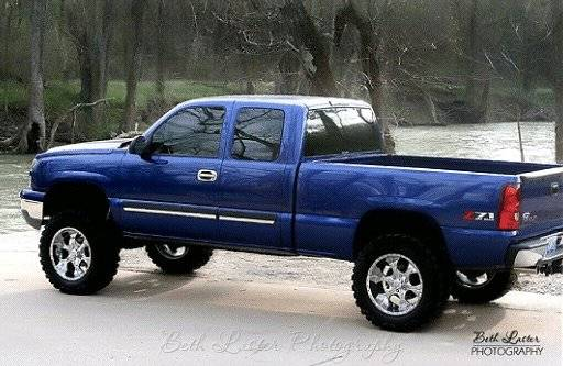 on Blue 2000 Chevy Silverado 1500 Lifted