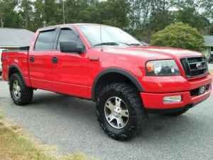 listing description - Red Ford F150 Lifted