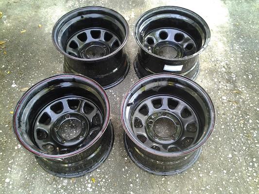 Rock Crawler Wheels : Set of rock crawler wheels rims black or