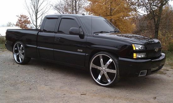 2003 chevrolet silverado ss on 8s 16 000 possible trade 100442629 custom full size truck. Black Bedroom Furniture Sets. Home Design Ideas