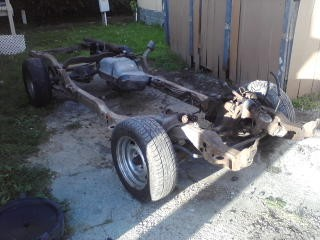 CHEVY S10 ROLLING FRAME GOOD FOR RATROD / BAGGED $350