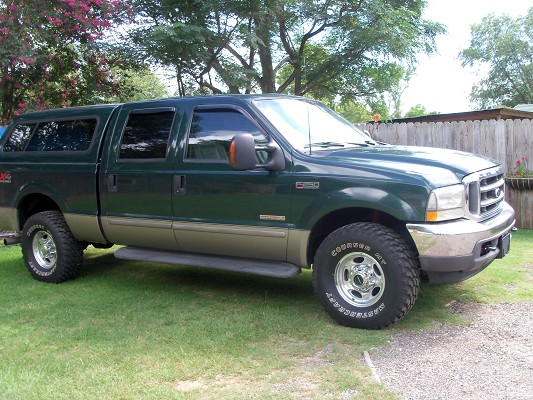 High mileage ford truck