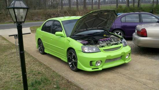 on 2001 Honda Civic Cold Air Intake