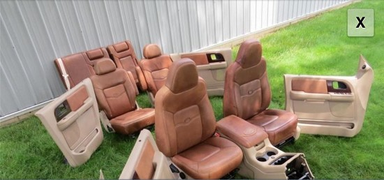 King Ranch Saddle Leather Full Interior 1500 100603182 Custom