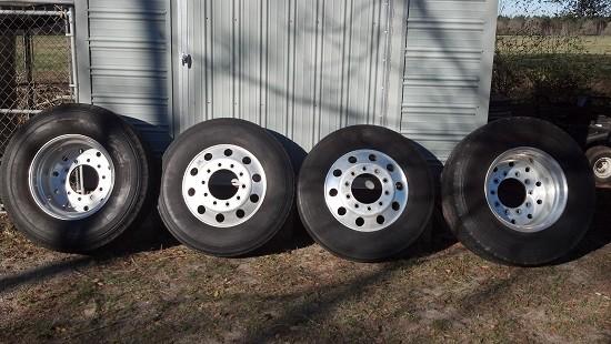 alcoa singles 225 x 1225 super single center set rear polished aluminum rim by september forged / alex rim alcoa # 822622.