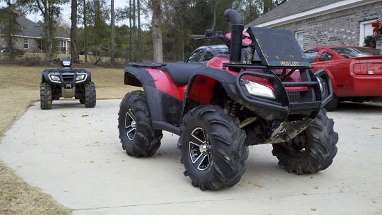 magazine to arm test setup a dual of aluminum honda used rincon dirt atv the back be dsc wheels constructed out