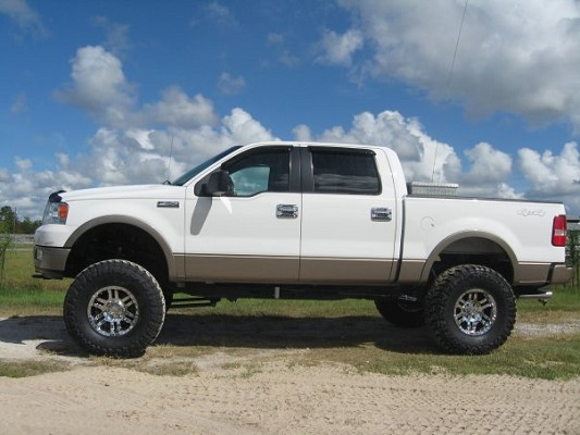 2005 ford f150 16500 possible trade 100431513 custom lifted truck classifieds lifted truck sales - White 2005 Ford F150 Lifted