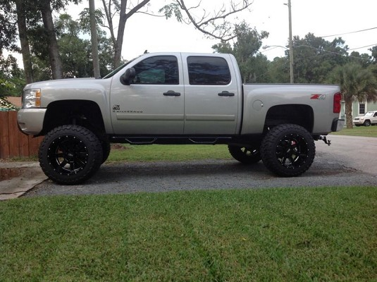 silver silverado lifted images - photo #14