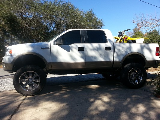 2005 ford f150 20000 100553081 custom lifted truck classifieds lifted truck sales - White 2005 Ford F150 Lifted