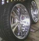 """2-22"""" Boyd Coddington Billet Shadow/Fury wheels"""