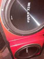 """2 15"""" MTX TR 75 dual 4 ohm Subs"""