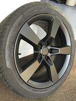 2010 camaro ss wheels (black plasti dip)