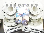 Cross Drilled & Slotted Brake Rotors & Pads Combo!