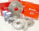 Brembo Drilled and Slotted Performance Rotors! F+R