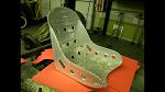 Custom aluminum bomber seat pair