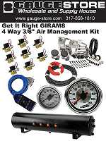"""Get It Right 4 Way 3/8"""" Air Management Kit"""